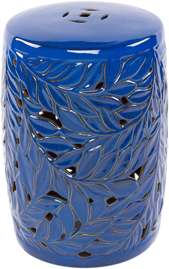 Cobalt Blue Acanthus Garden Stool