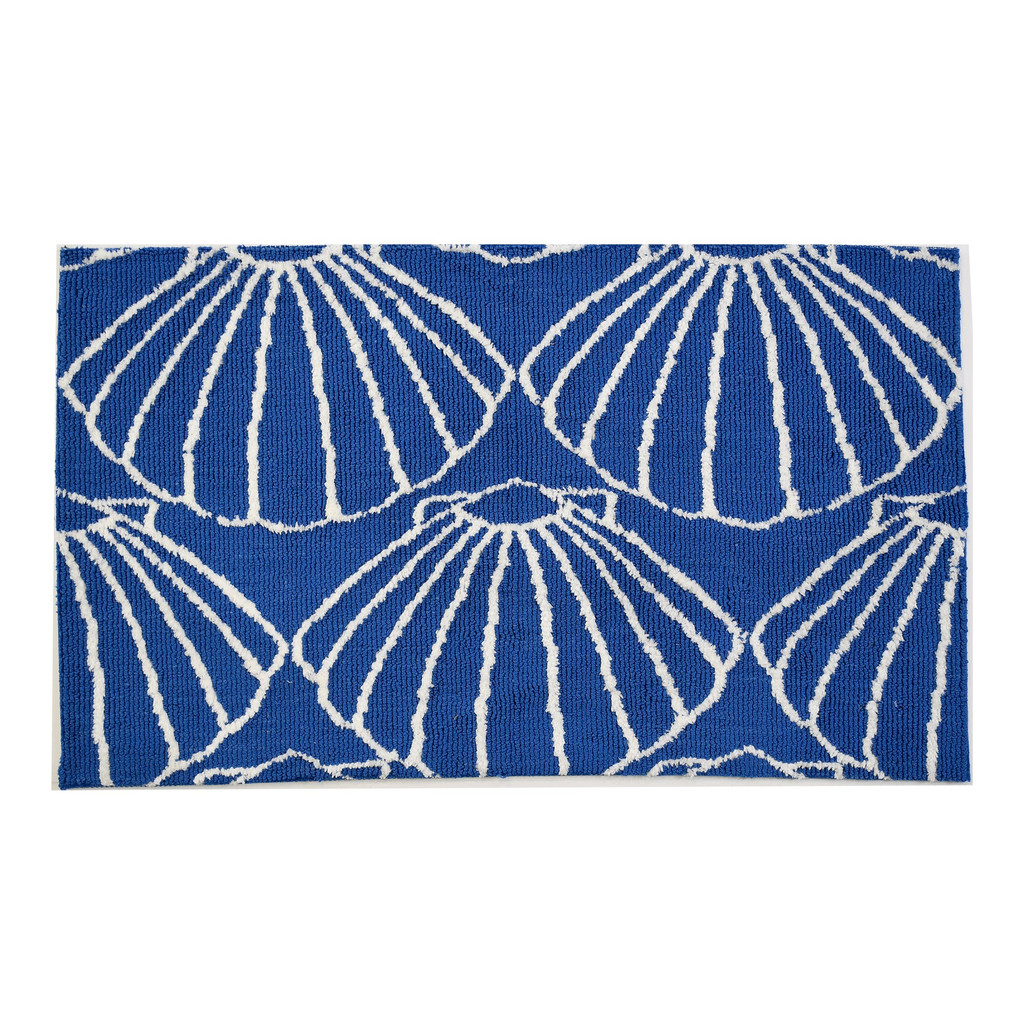 Blue Shell Repeat Accent Rug