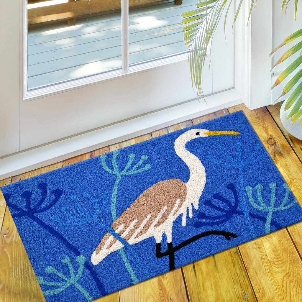 Whooping Crane Accent Rug floor view