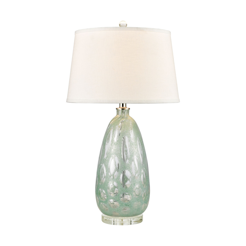 Bayside Blues Glass Table Lamp