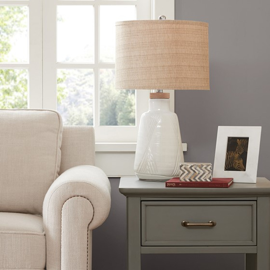 Natural Vibes Ceramic Table Lamp on table