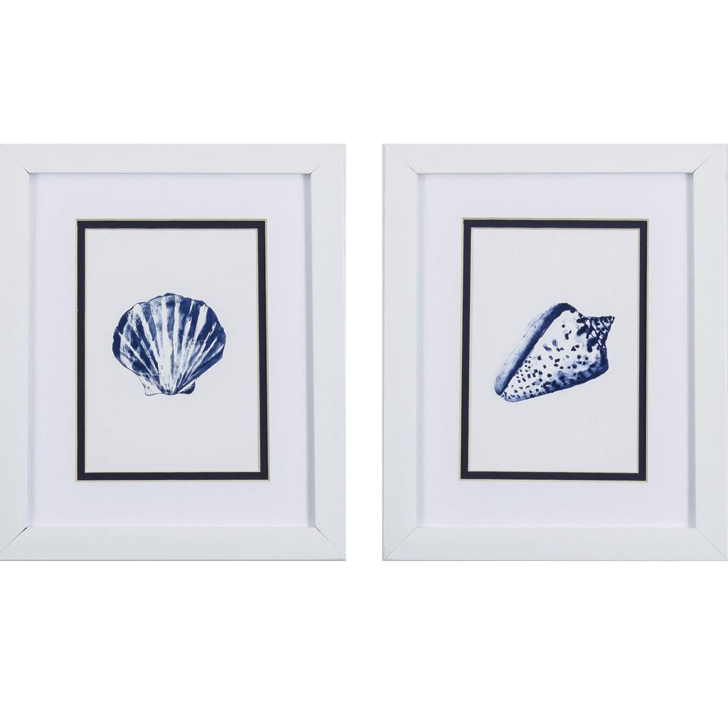 Blue Ocean Shells- Set of Two
