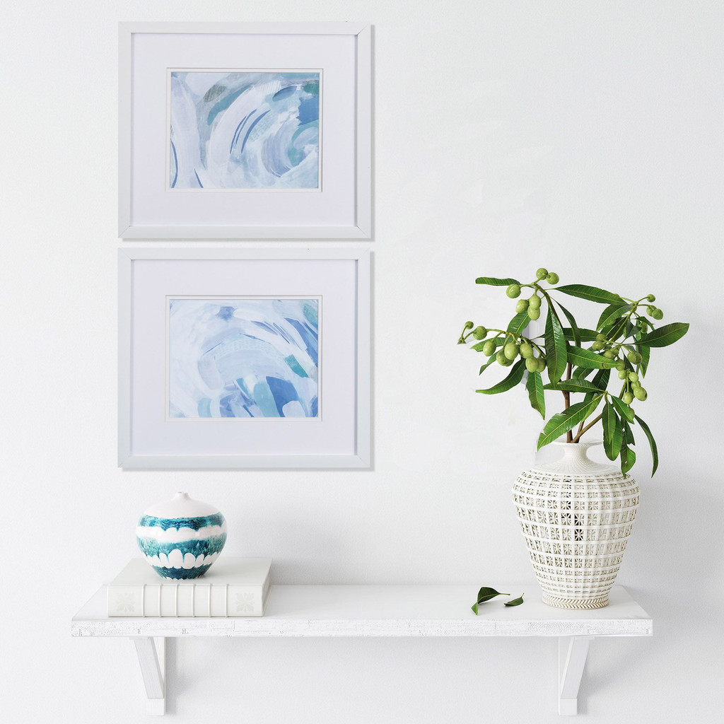 Ocean Waves Abstract Wall Art- Set of Two lifestyle image