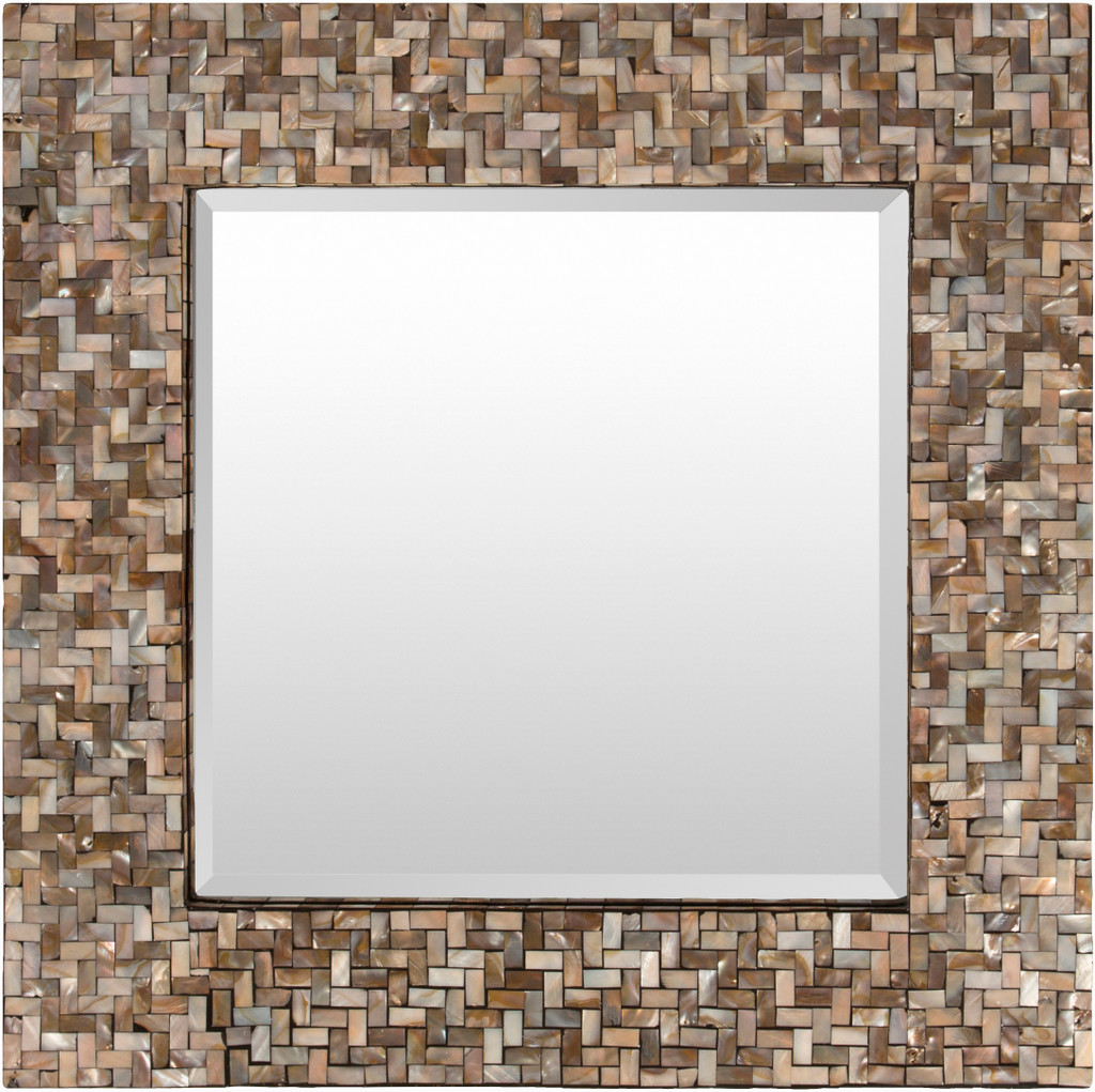 Overton Bronze Mother Of Pearl Framed Mirror