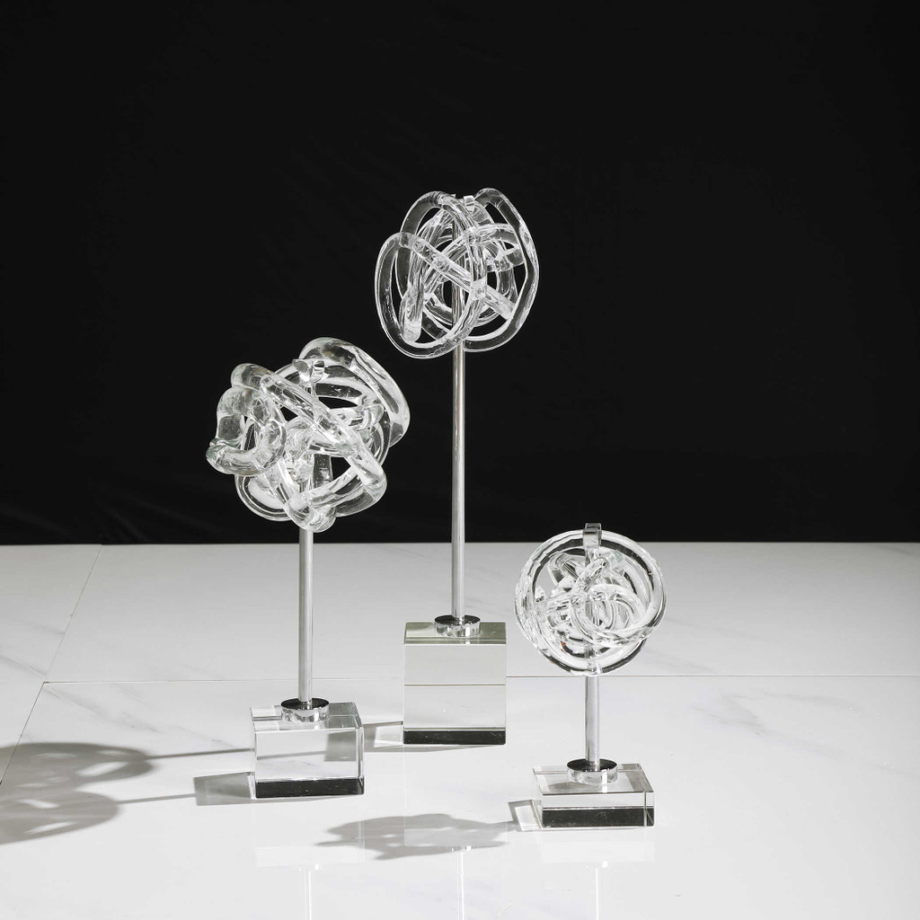 Knotted Glass Table Top Sculptures table example