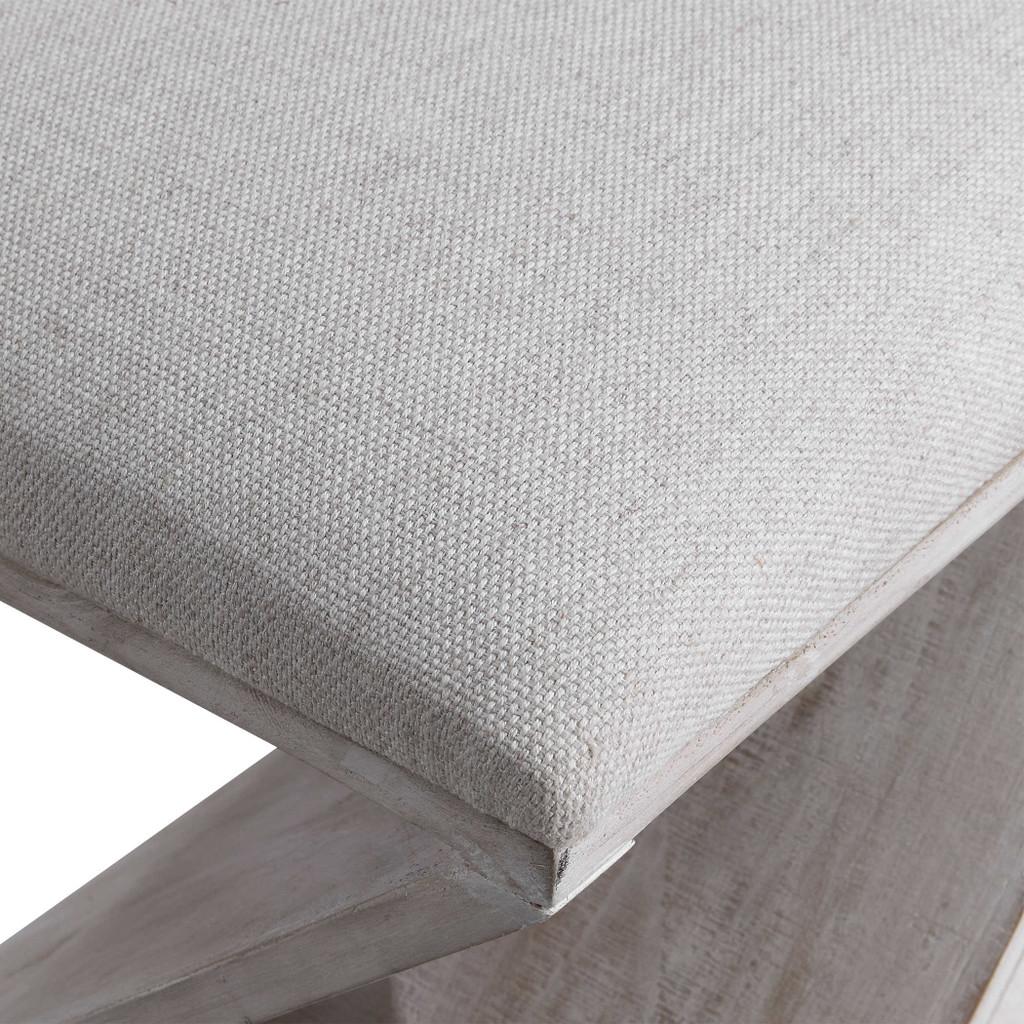 Benue Gray Coastal Ottoman cushion