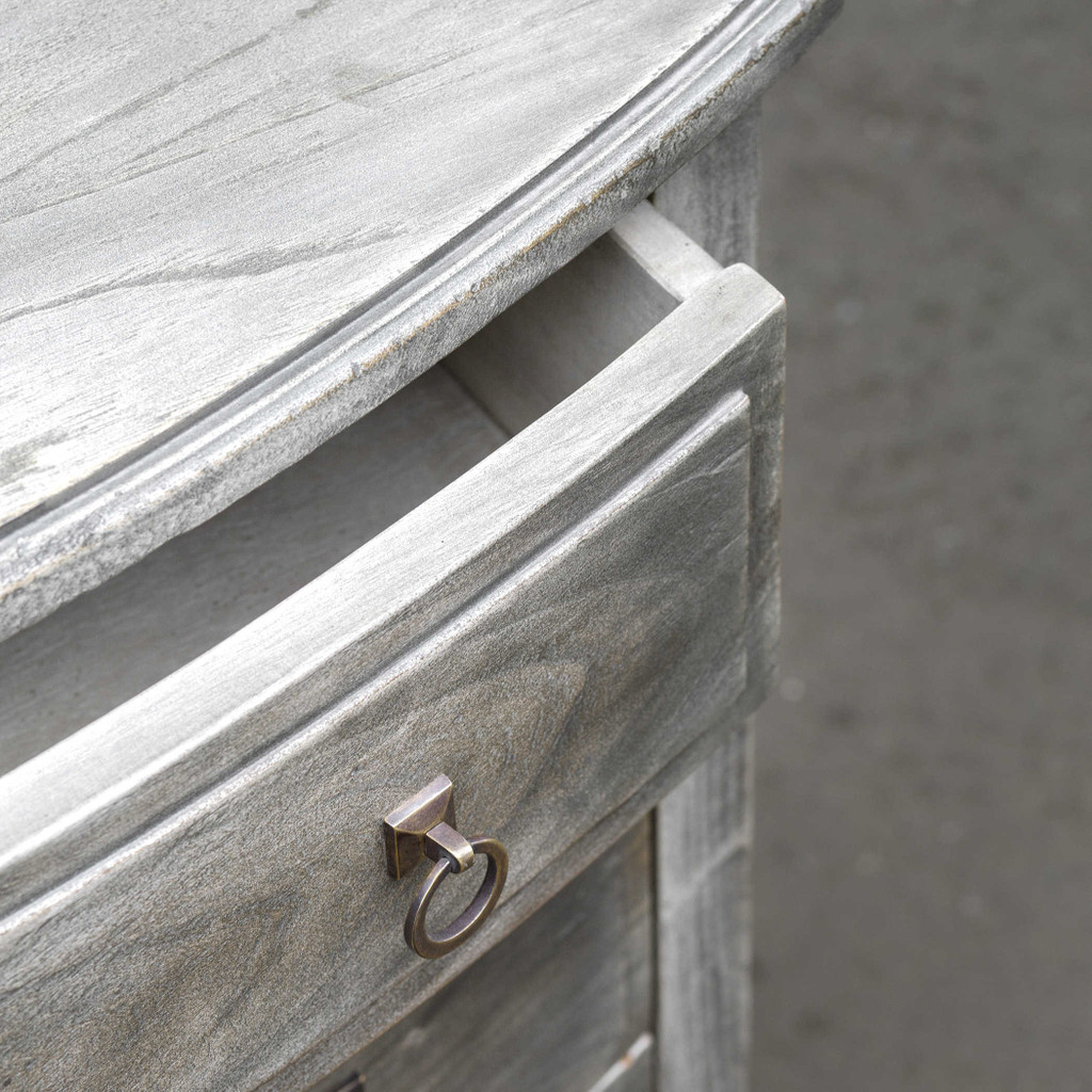 Jacoby Driftwood Accent Chest close up drawers