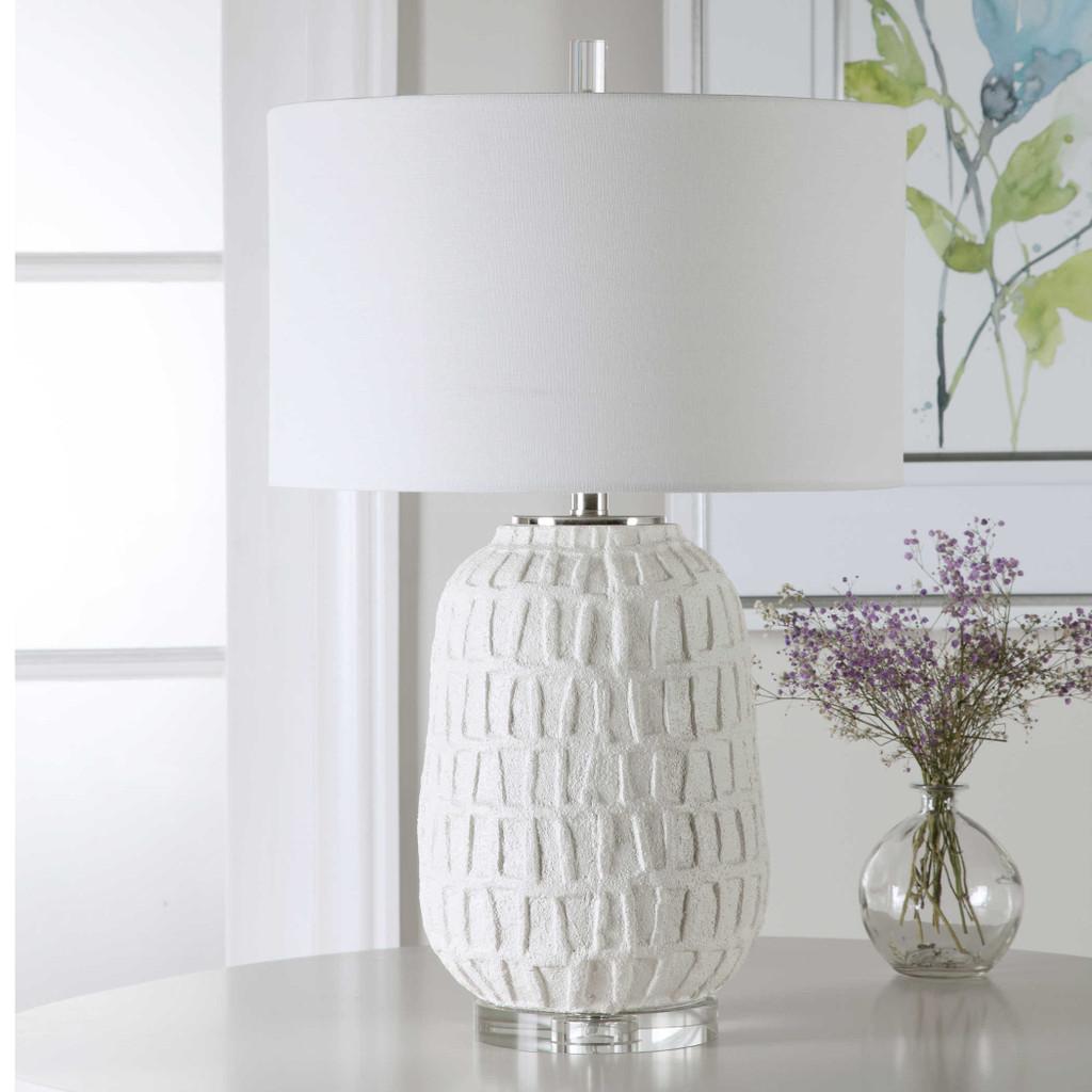 Caelina Coastal White Table Lamp lifestyle