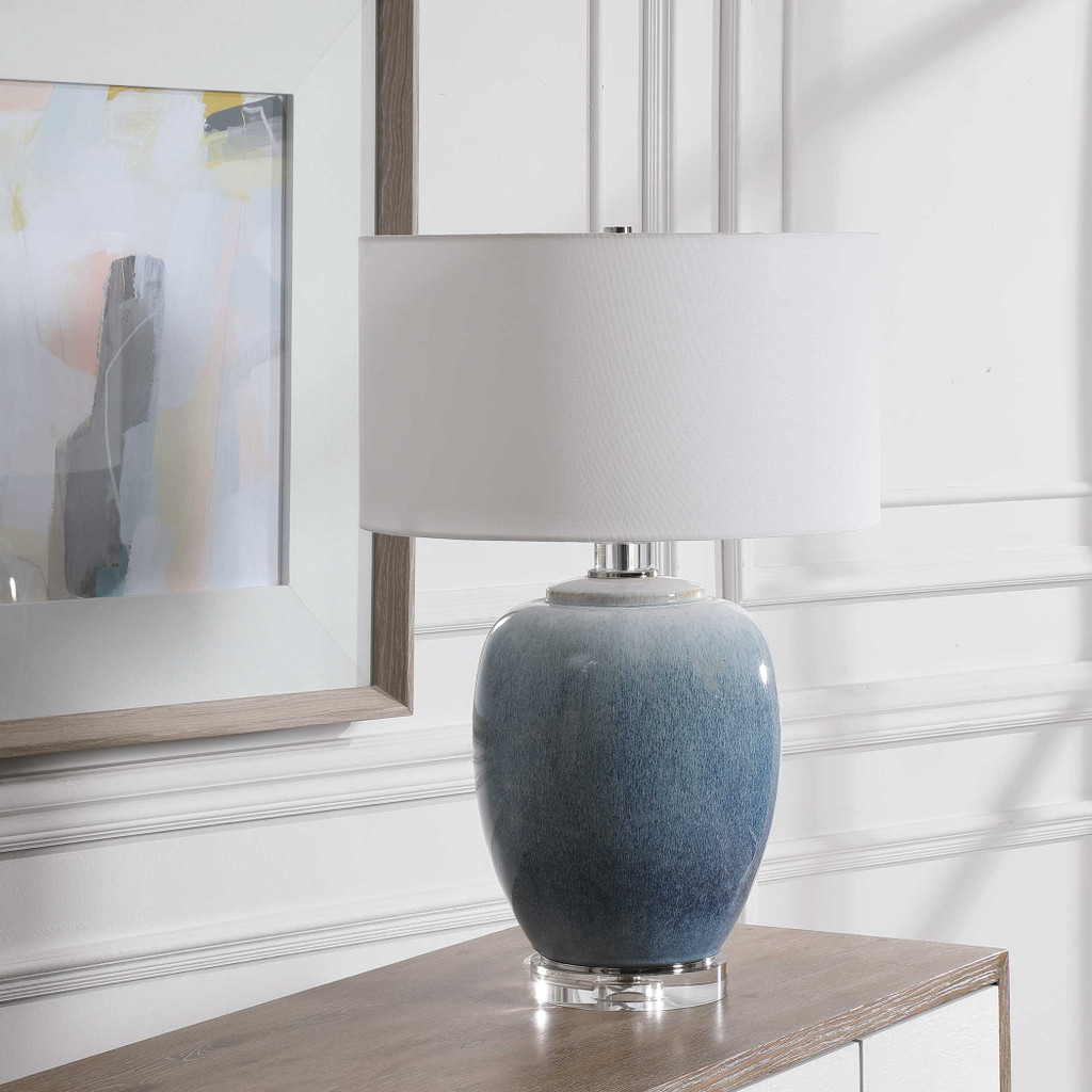 Blue Waters Ceramic Table Lamp lifestyle light off