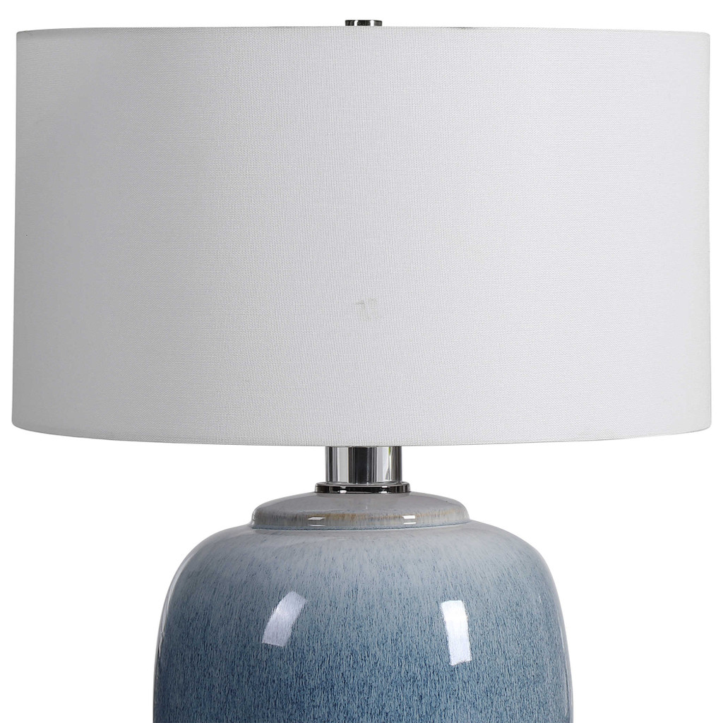Blue Waters Ceramic Table Lamp close up
