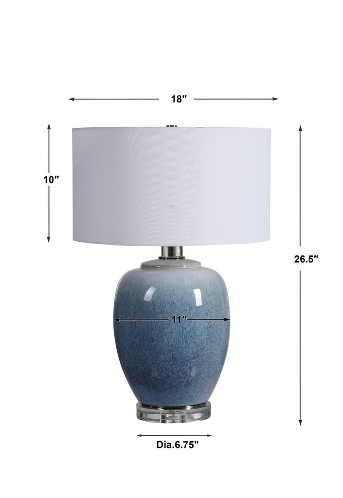 Blue Waters Ceramic Table Lamp dimensions