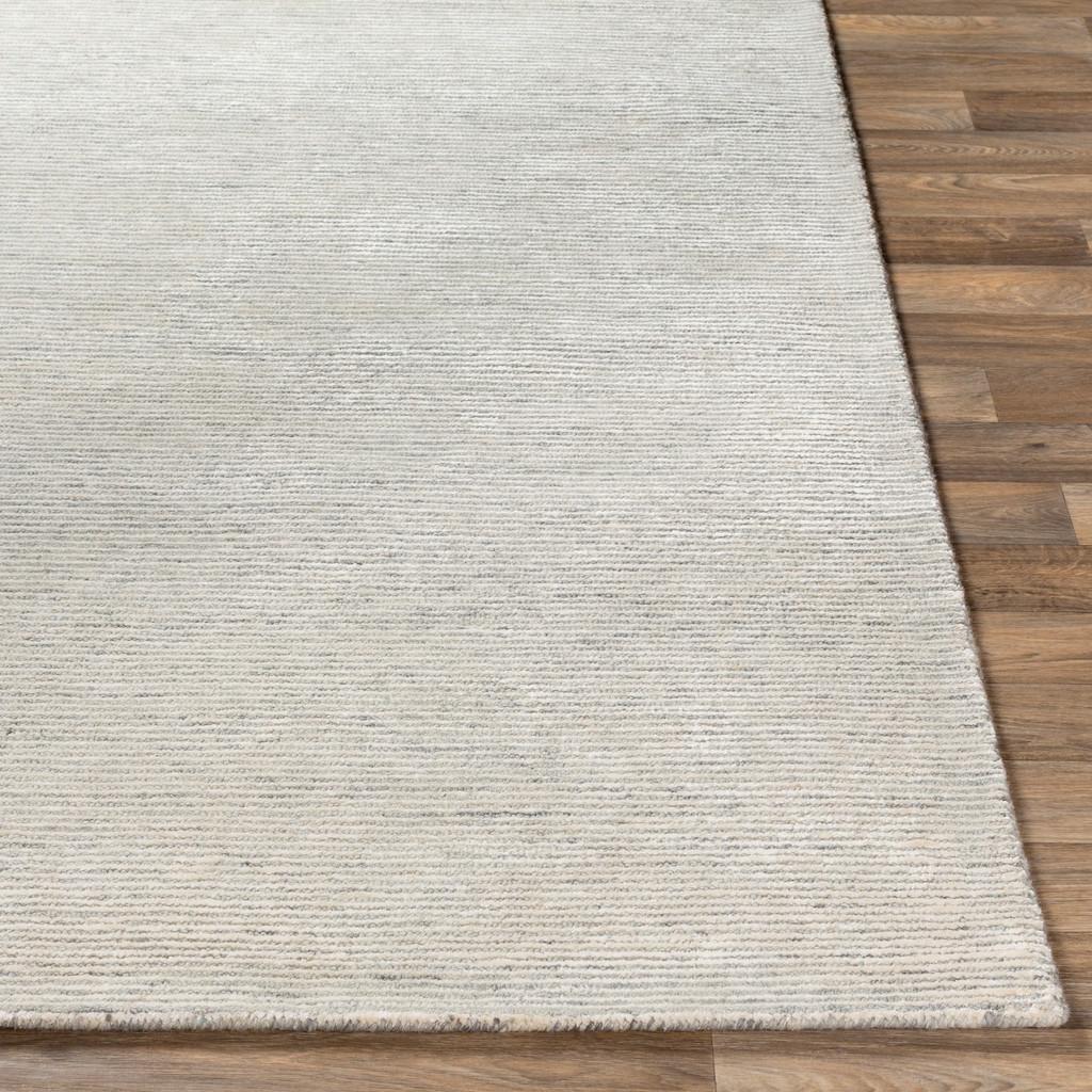 Silver Strada Wool and Viscose Rug corner