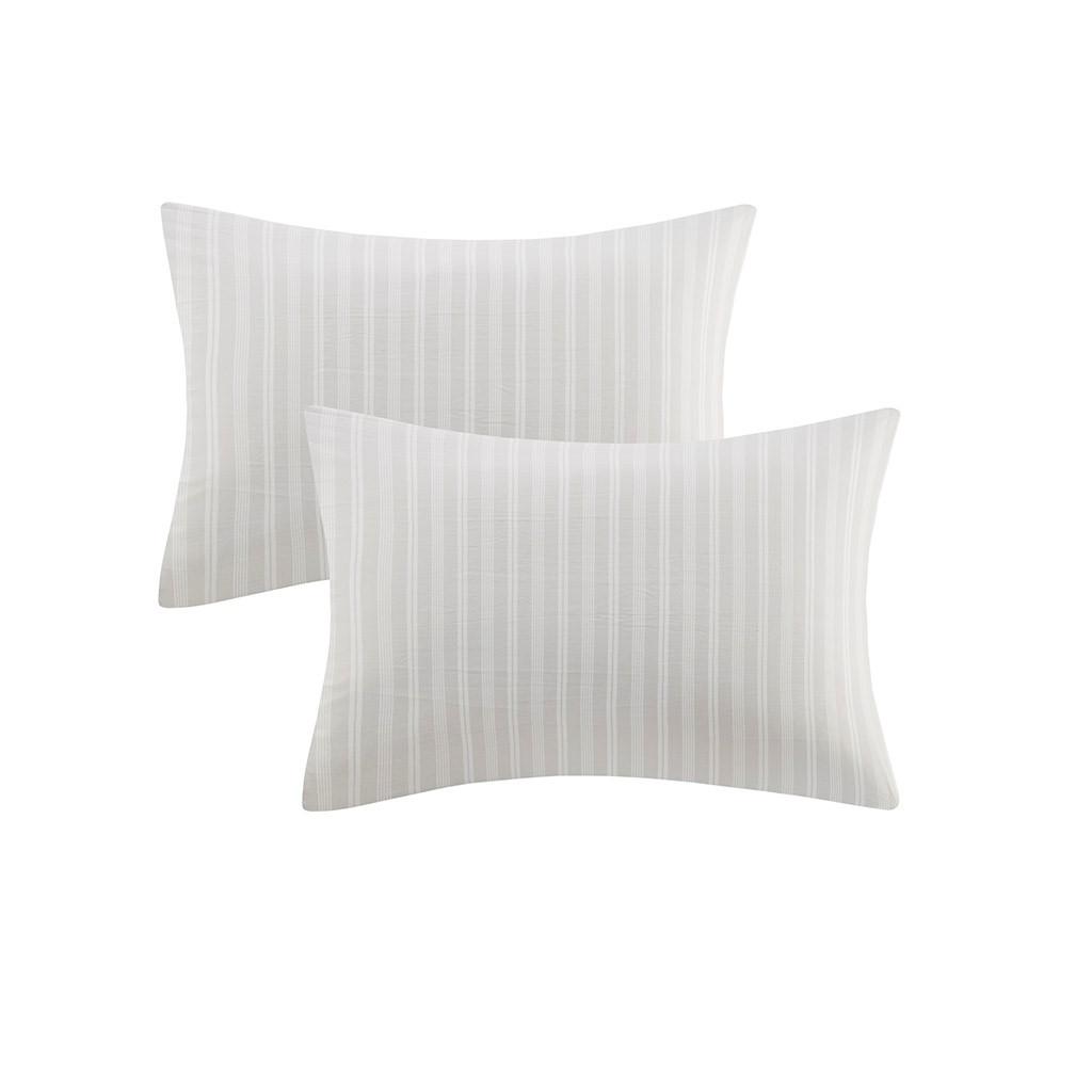Sconset Navy Plaid 8-Piece Reversible Comforter Set pillow cases