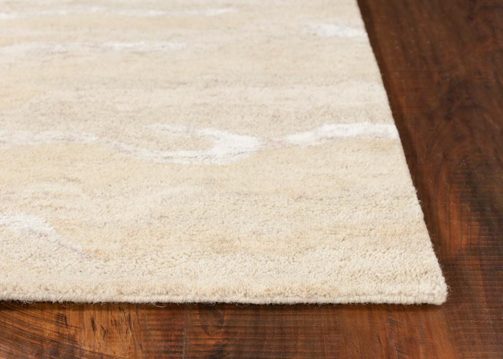 Serenity Summer Breeze Luxury Wool Rug corner and floor