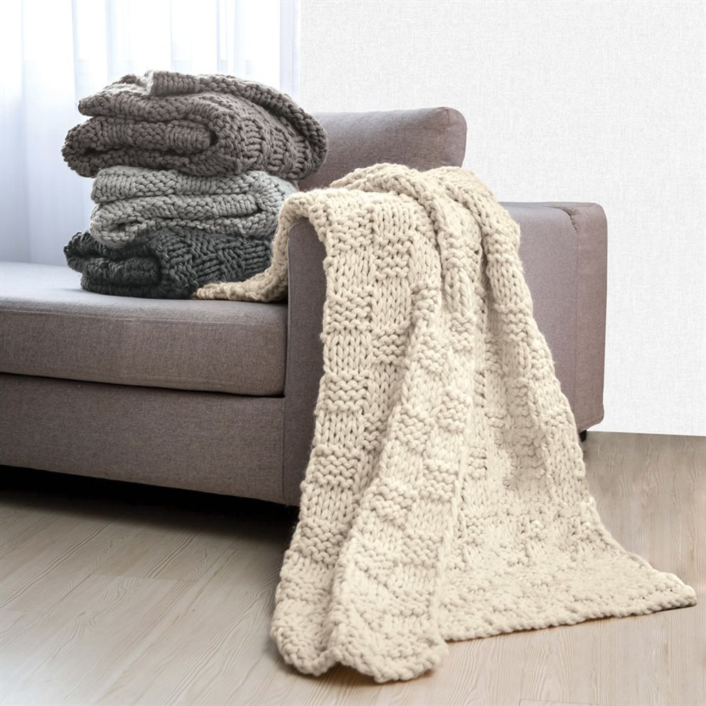 Chess Knit Throw  with all colors