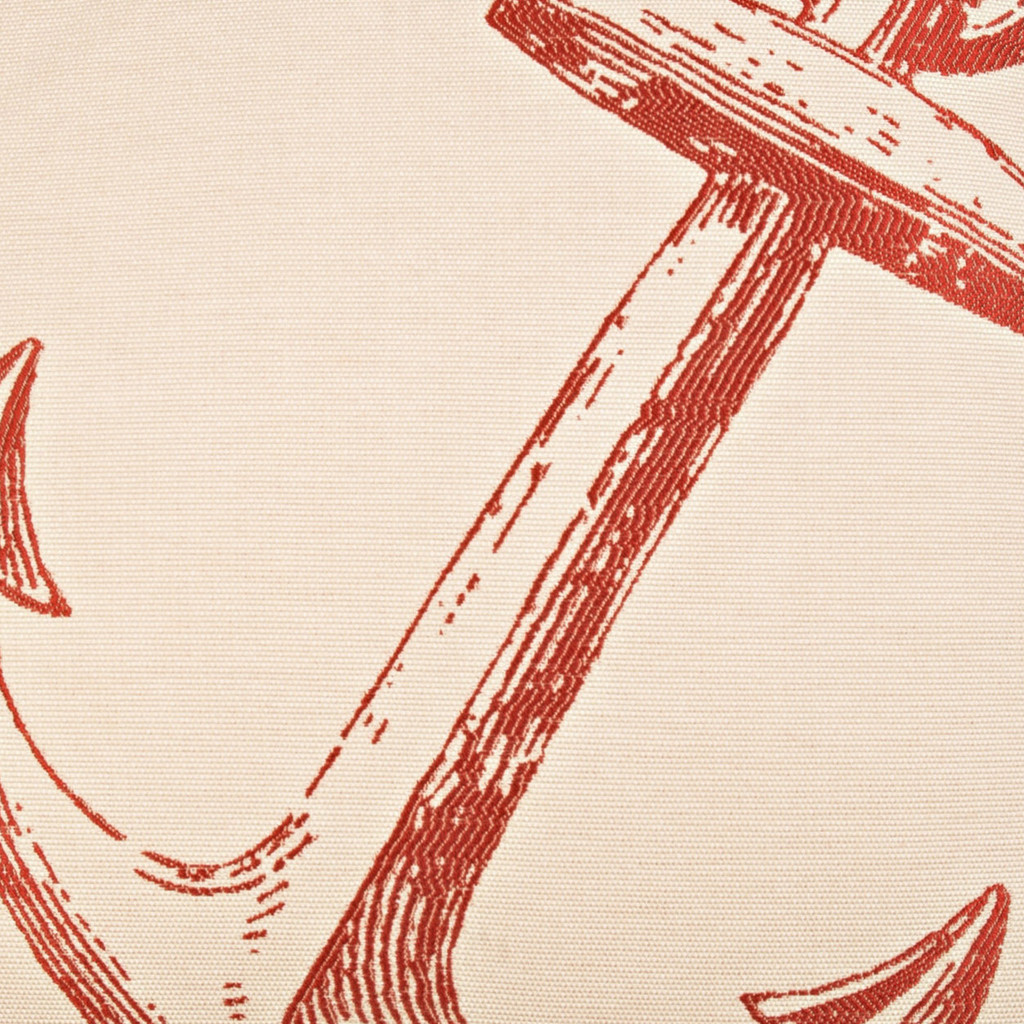 Red Adrift At Sea Nautical Luxury Pillow close up anchor