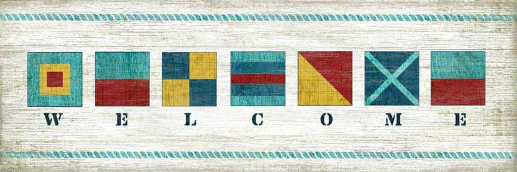 Nautical Flag Welcome Art Sign