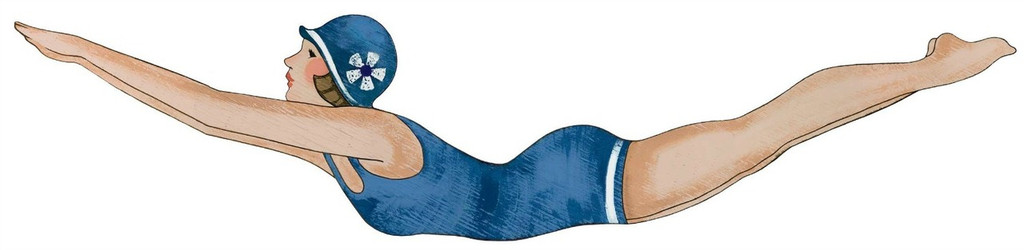 Retro Diving Girl from Suzanne Nicoll - Navy