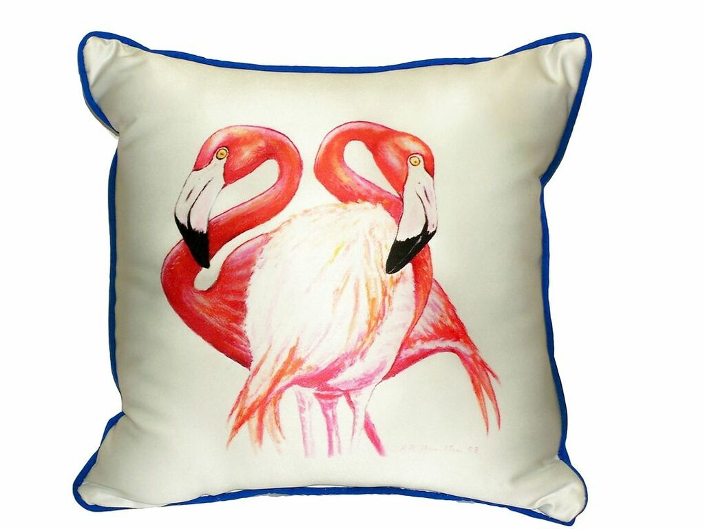 Two Pink Flamingos Pillow
