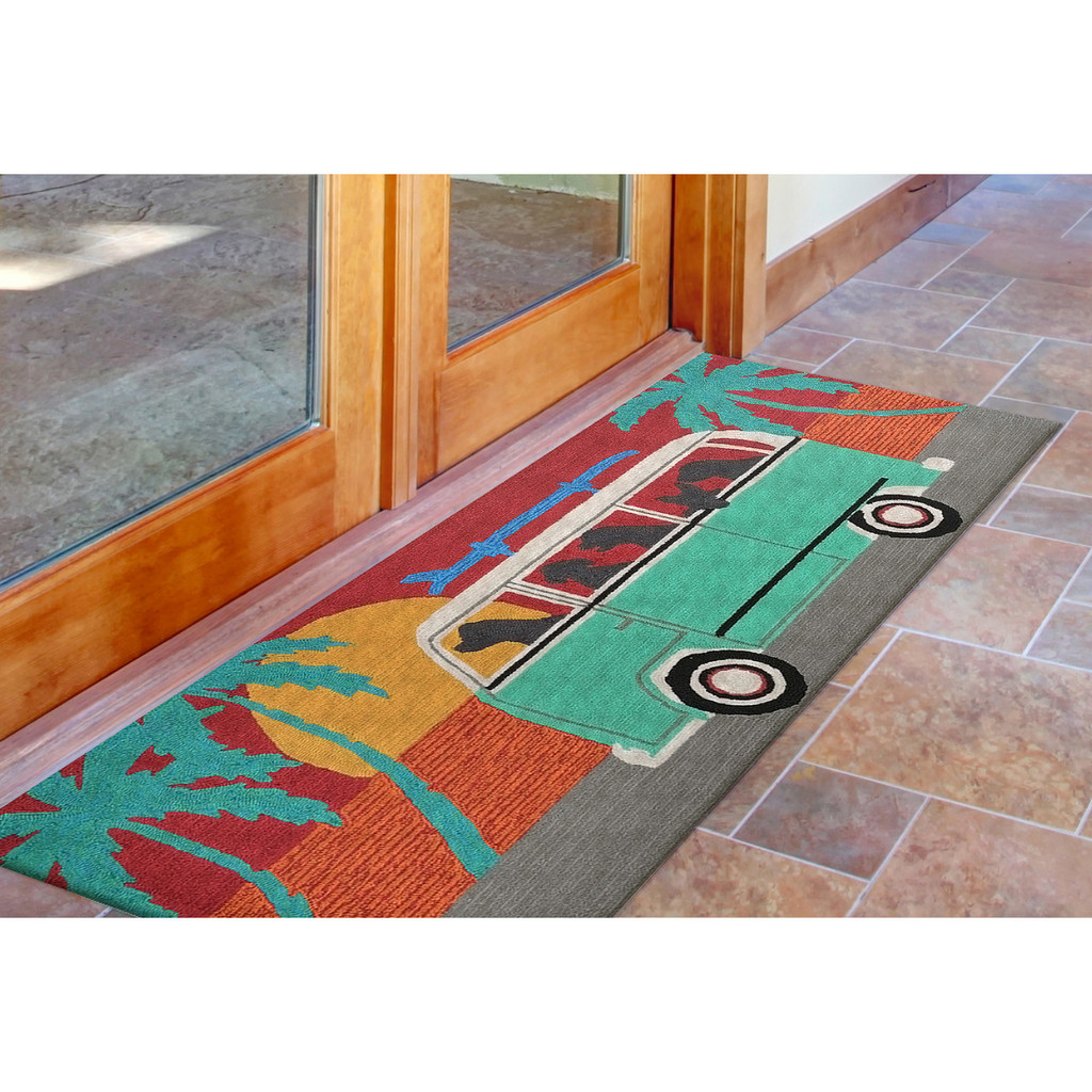 Beach Trip Puppies Accent Rug runner room view 2