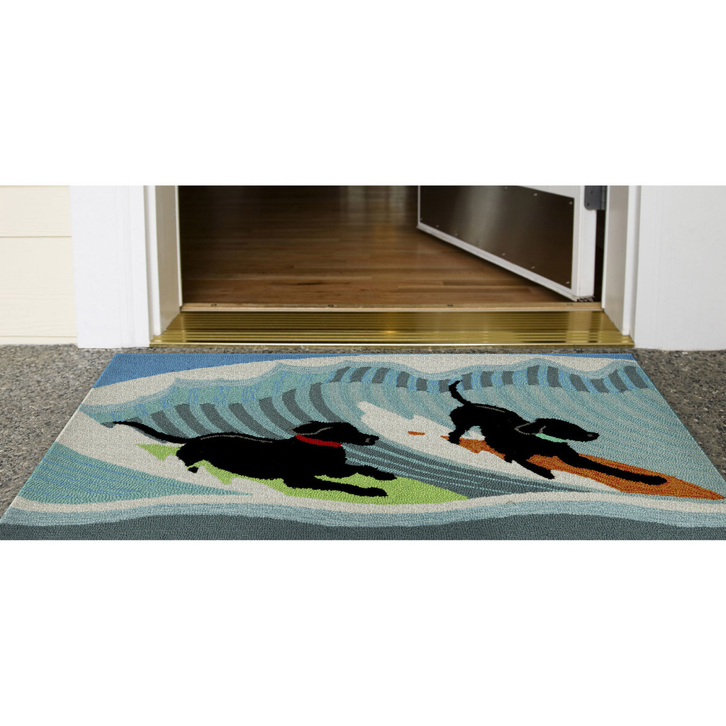 Surfing Puppy Dogs Accent Rug floor image