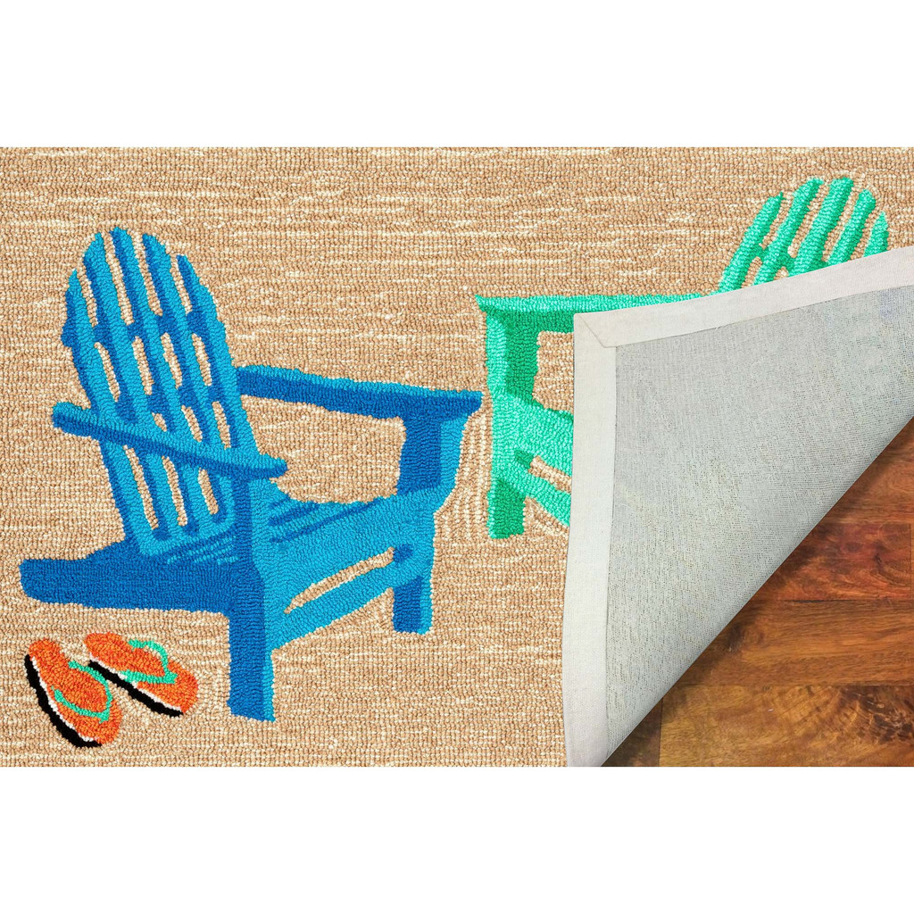 Bright Adirondack Chairs Accent Rug backing
