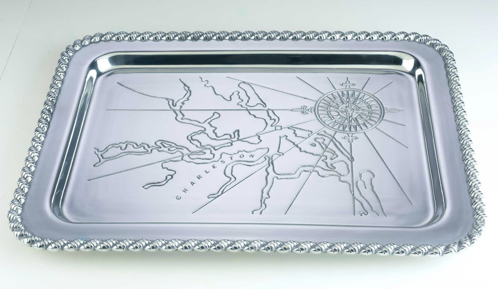 Latitudes Large Charleston Harbor Serving Tray