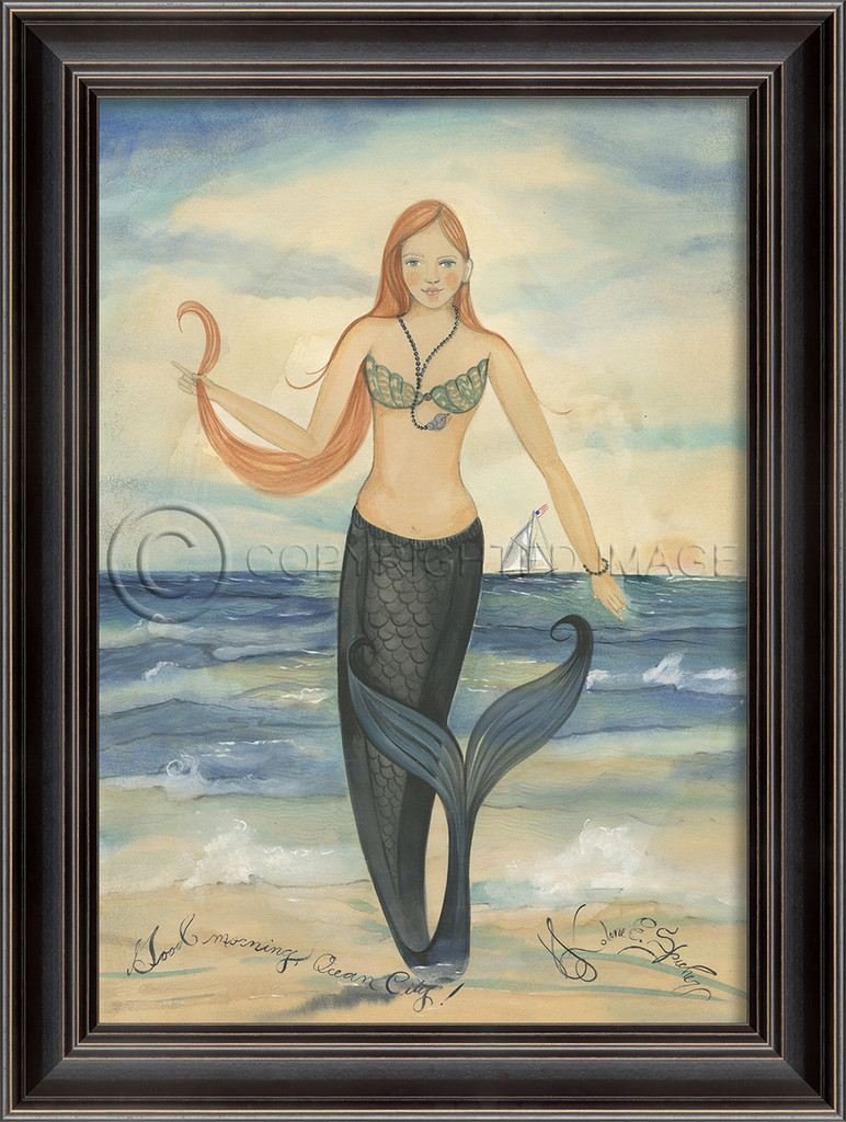 Good Morning Ocean City Mermaid Wall Art