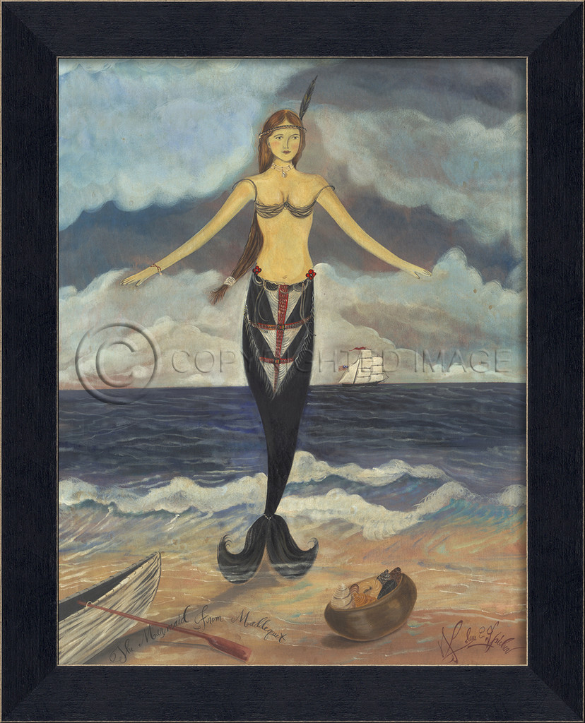 The Mermaid from Maddequet Small Framed Art