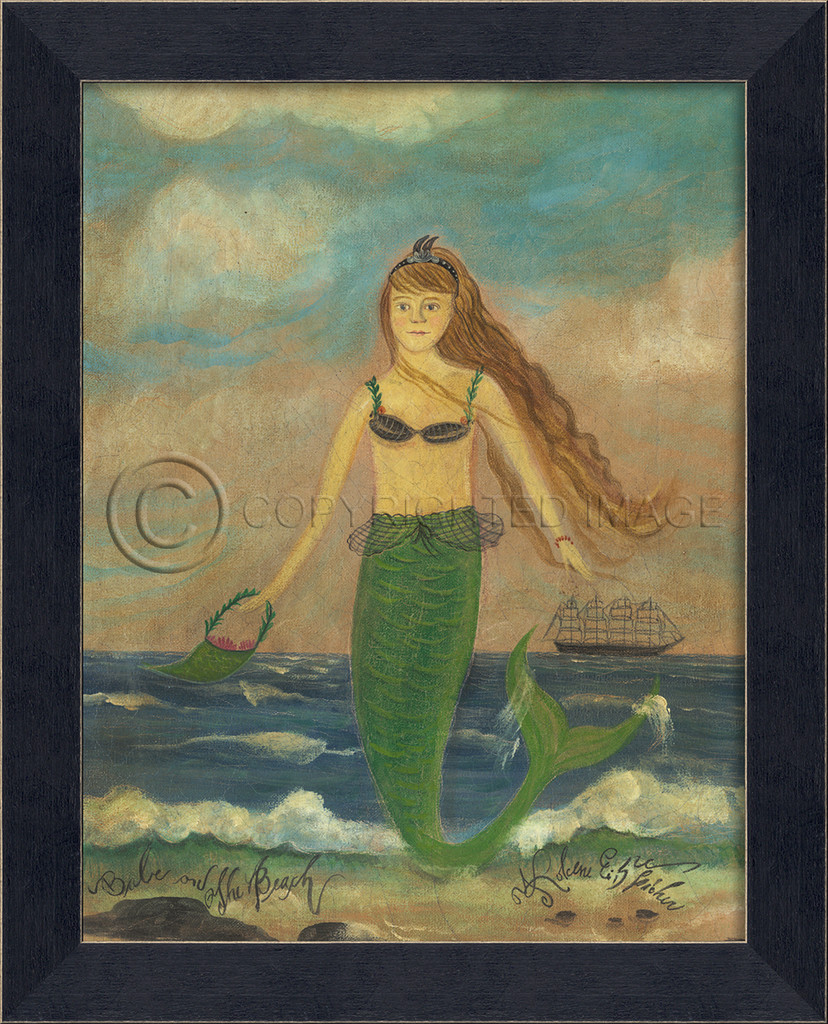 Small Version Babe on the Beach Mermaid Art