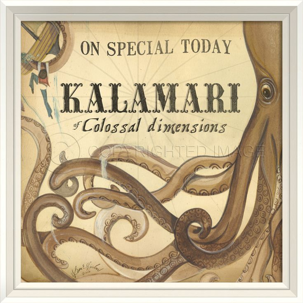 Kalamari of Colossal Dimensions white frame