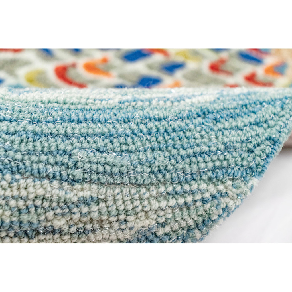 Mermaid Crossing Accent Area Rug roll  + pile