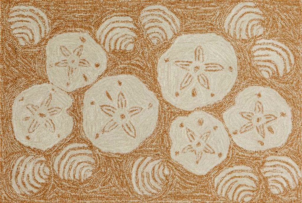 2 x 3 Size Shell Toss Area Rug - Natural