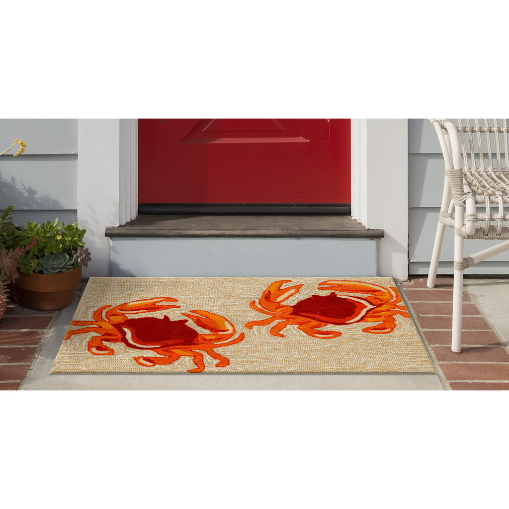 Red Crabs Accent Area Rug
