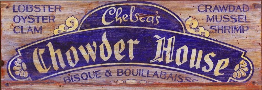 Chowder House Coastal Sign