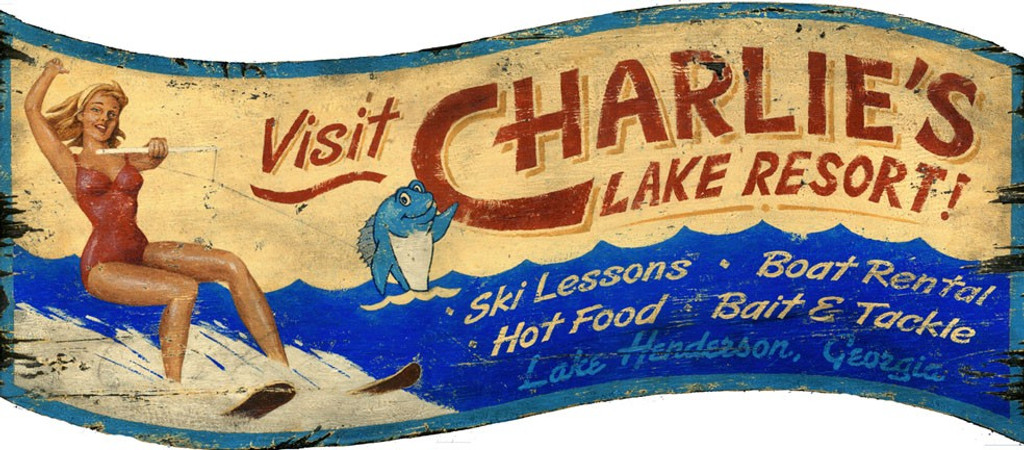 Water Skiing Sign