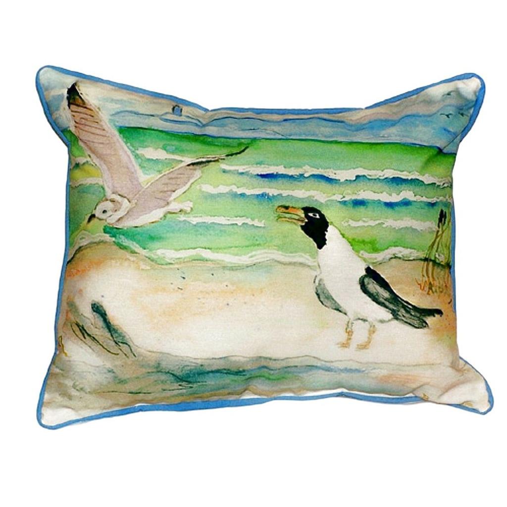 Two Gull Seabird Pillow