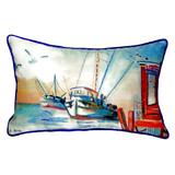Shrimp Boat Fishing Pillow