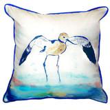 Avocet Shorebird Beach Cottage Pillow