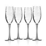 School of Fish Flute Glassware - Set of 4 group shot