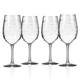 School of Fish Large Wine Goblets - Set of 4 group shot