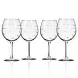 School of Fish Balloon Wine Goblets - Set of 4 group shot