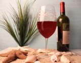 Palm Tree Large Wine Goblets-Set of 4 beauty image