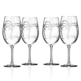 Palm Tree Large Wine Goblets-Set of 4