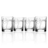 Palm Tree DOF Glasses-Set of 4