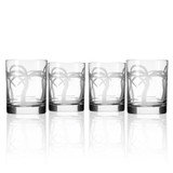 Palm Tree Double Old Fashioned Glasses-Set of 4