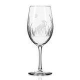 Heron Etched Wine Glasses Individual