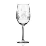 Heron Etched Wine Glasses- Set of 4