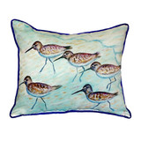 Sandpiper Birds Beach Cottage Pillow