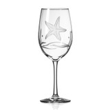 Starfish Etched Large Wine Goblets - Set of 4 single image